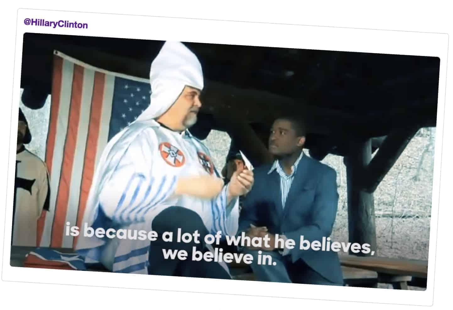 (Faksimile: Hillaryclinton.com)