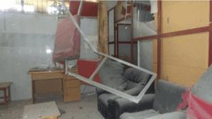 Et av rommene på feltsykehuset etter bombingen. Foto: Leger uten grenser / MSF.org