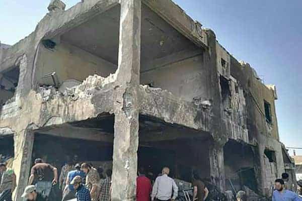 Sykehuset i Mills etter å ha blitt truffet direkte av to raketter. (Foto: MSF.org)