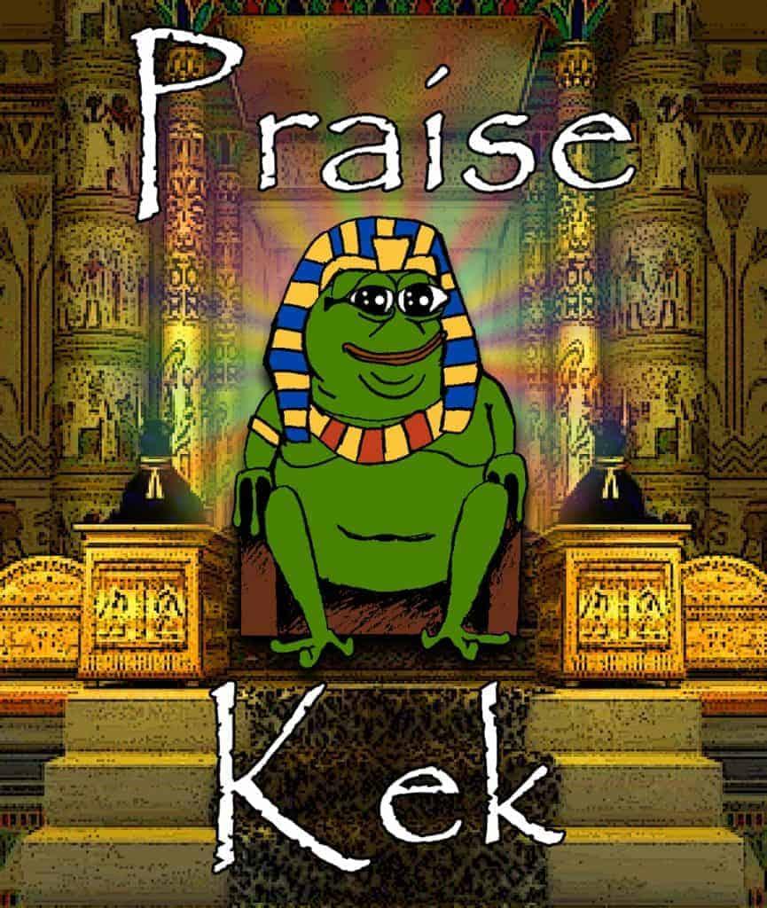 En Pepe-varient som refererer til Kek.