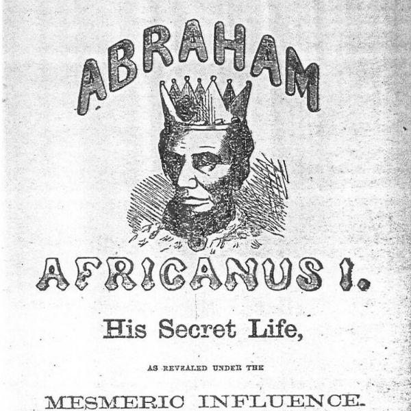 En pamflett som «avslører» Abraham Lincolns afrikanske bakgrunn i 1864. (Wikipedia/Public domain)
